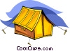 Vector Clipart graphic  of a tent