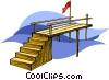 Vector Clip Art graphic  of a dock
