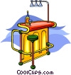 Vector Clipart image  of a bar with stool