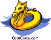 Vector Clipart graphic  of a pool toys