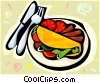 Vector Clip Art picture  of a fajitas