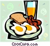 Vector Clipart graphic  of a bacon and eggs
