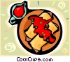 Vector Clip Art graphic  of a Pasta dish