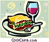 Vector Clip Art graphic  of a lasagna