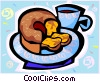 Vector Clip Art picture  of a coffee cake
