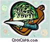 Vector Clip Art image  of a lettuce