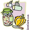 Vector Clip Art image  of a jar of preserves
