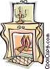 fire place Vector Clipart picture