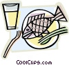 fish supper Vector Clip Art picture