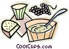 breakfast, cereal, muffin Vector Clipart illustration