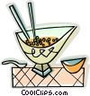 Vector Clip Art image  of a Chinese soup