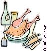 Vector Clip Art picture  of a turkey dinner