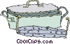 Vector Clipart image  of a fish pot