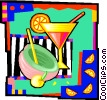 Vector Clip Art image  of a cocktails