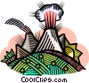 Vector Clip Art picture  of a nuclear energy