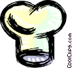 Vector Clip Art image  of a chef's hat