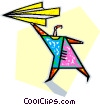 paper airplane Vector Clip Art picture
