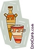 Vector Clipart picture  of a vase