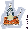 Vector Clip Art graphic  of a Turkish smoking pipe