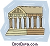 Vector Clipart illustration  of a Greek temple facade