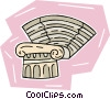 Vector Clip Art picture  of a classic Greek theatre