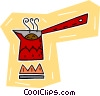 Vector Clip Art picture  of a cooking pot