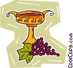 grapes with cup Vector Clip Art graphic