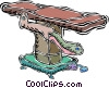 Vector Clipart illustration  of a chiropractors table