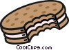 Vector Clipart graphic  of a cookie