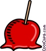 Vector Clipart image  of a Candy apple