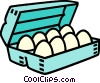 Vector Clip Art image  of a carton of eggs