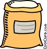 Vector Clipart picture  of a flour