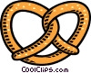 pretzel Vector Clipart graphic
