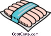 Vector Clipart image  of a hot dogs