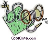 Vector Clipart picture  of a garden hose