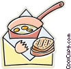 Vector Clip Art picture  of a fried eggs