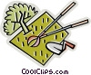 Vector Clipart graphic  of a gardening tools