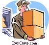 Vector Clipart picture  of a deliveryman