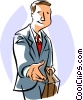Vector Clipart image  of a businessman