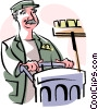 Vector Clipart illustration  of a custodian
