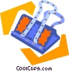 Vector Clipart image  of an alligator clip