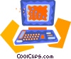 notebook computer Vector Clipart graphic