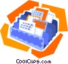 in-box, out-box Vector Clip Art image