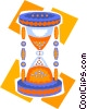 hourglass Vector Clipart image