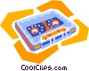 audio cassette tape Vector Clip Art picture