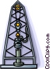 Vector Clip Art image  of a oil well