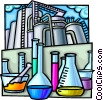 Vector Clip Art graphic  of a Chemical industry