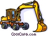 Construction equipment, shovel Vector Clipart illustration