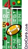North American football Vector Clipart image