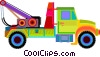 Vector Clip Art graphic  of a tow truck